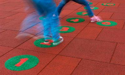 Safety tiles with numbers